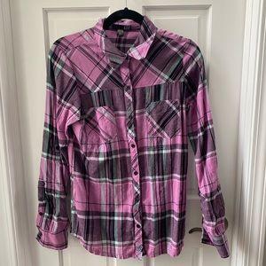 Fox long sleeve purple flannel